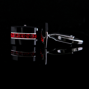 Image 3 - KFLK Jewelry fashion shirt cufflink for mens gift Brand cuff button Red Crystal cuff link High Quality abotoaduras guests