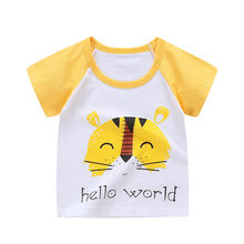 Children Summer Clothing Boy Girls Short Sleeve Tee Tops Clothes Kids Cartoon Print T-shirt Baby Tshirt new fashion kids sport(China)
