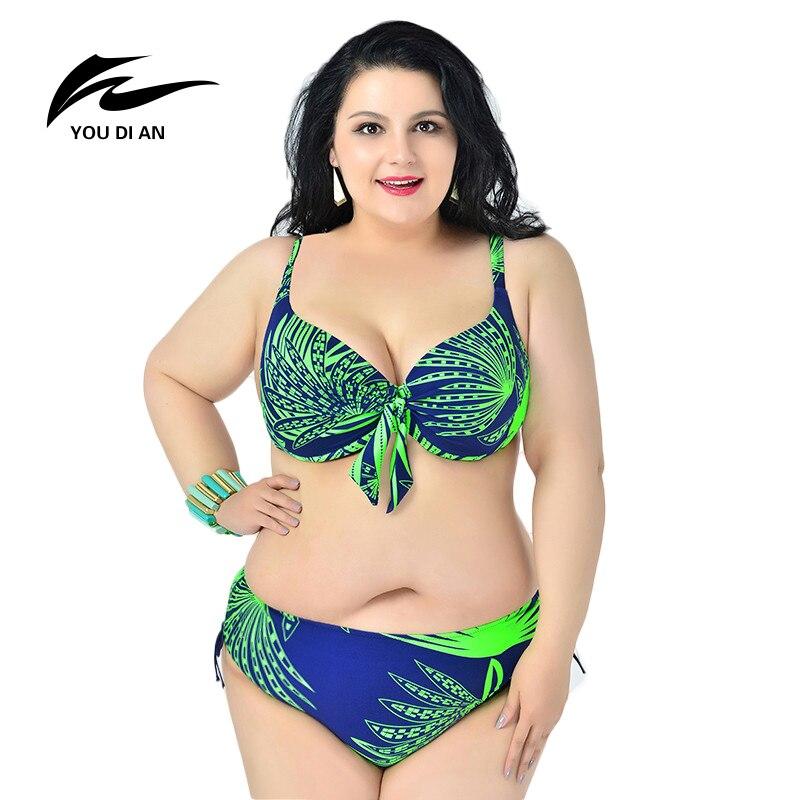 Bikini 2016 Women Plus Size Swimwear New Bikinis Women Swimsuit Biquini Brazilian Bikini Set Retro Beach Suit Push Up Bikini 6XL цена 2017