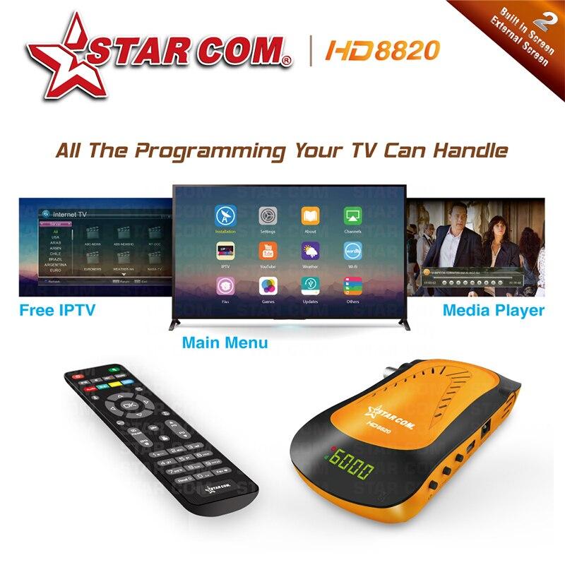 STARCOM V26 Satellite TV Receiver DVB-S2 Full HD  IPTV Hybrid New Mini Receiver YouTube WiFi Included , USB Media Player TV BOX Nibbler