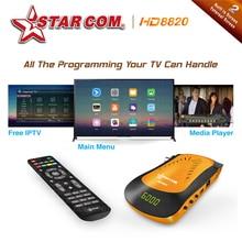 STARCOM HD8850 Arabic IPTV Satellite Receiver DVBS2 With Free IPTV PowerVU Bisskey TV BOX M3U TV Receiver