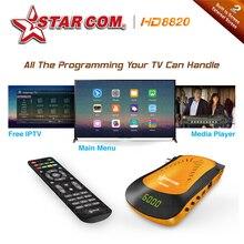 STARCOM V26 Δέκτης δορυφορικής τηλεόρασης DVB-S2 Full HD IPTV Υβριδικό νέο μίνι δέκτη Συμπεριλαμβάνεται το YouTube WiFi, Media Player USB TV BOX