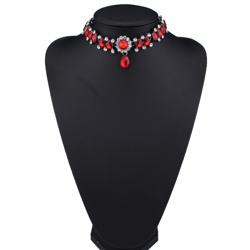 HTB1MmAgOFXXXXamXFXXq6xXFXXXg Luxurious Pearls And Crystals Statement Choker Collar Necklace With Pendant Charm - 8 Styles