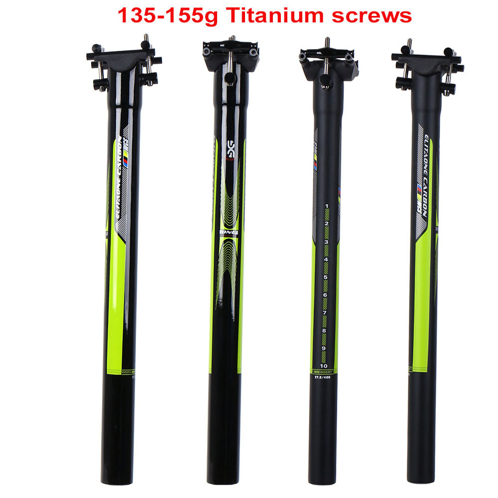 все цены на Carbon Fibre seat post 27.2/30.9/31.6*350/400mm Carbon bike parts mtb seatpost Road Bicycles carbon seatpost UD matte gloss 135g онлайн