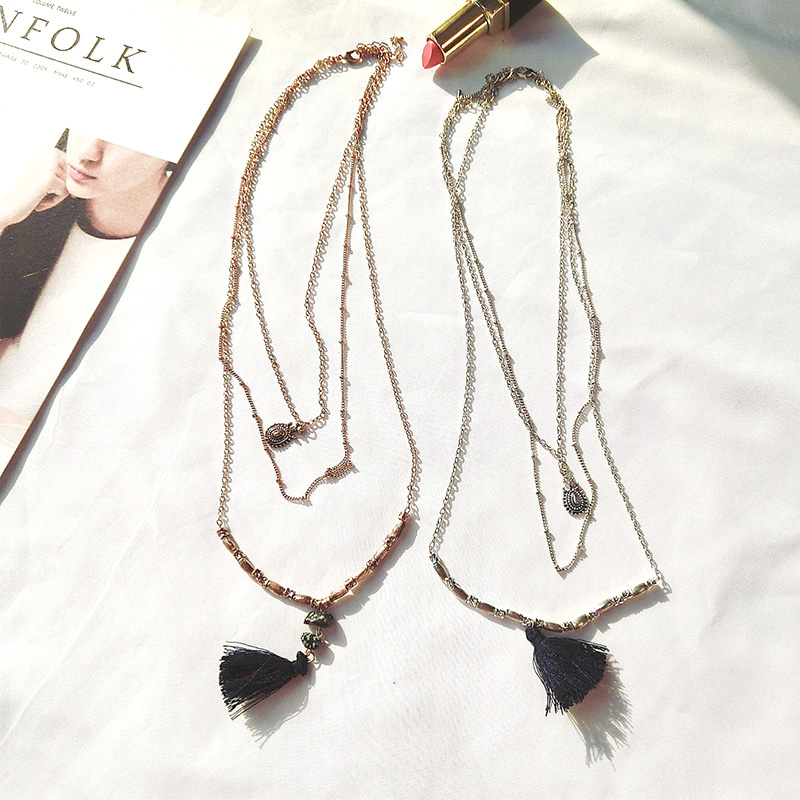 Vintage Personality Tassel Chokers New Arrive Summer Girl Euramerican Ethnic Pendant Necklace Temperament Sweather Accessory