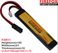 wholesale 1pcs 100% Orginal FireFox 11.1V 1100mAh 15C Li Po AEG Airsoft Battery F3R11 Drop shipping