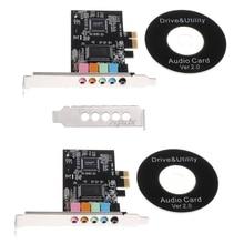 PCI-E Audio Digital Sound Card 5.1 Solid Capacitors CMI8738 Chipset + Barrier July Drop ship