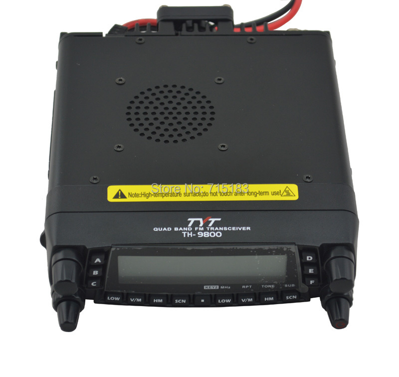 TYT TH9800 TH-9800 Mobile Transceiver Automotive Radio Station 29/50/144/430MHz Quad bands 50W Output Car Radio Station RepeaterTYT TH9800 TH-9800 Mobile Transceiver Automotive Radio Station 29/50/144/430MHz Quad bands 50W Output Car Radio Station Repeater