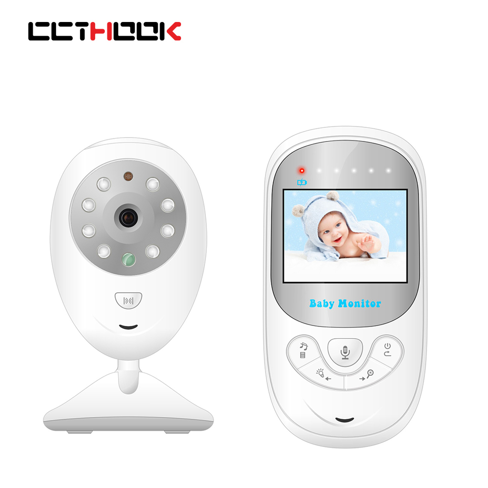CCTHOOK Baby Monitor 2.4 Wireless Video Color Screen High Resolution Nanny Security Camera Night Vision Temperature Monitoring wireless 2 4 lcd color baby monitor high resolution lullabies kid nanny radio babysitter night vision remote camera newborn gift