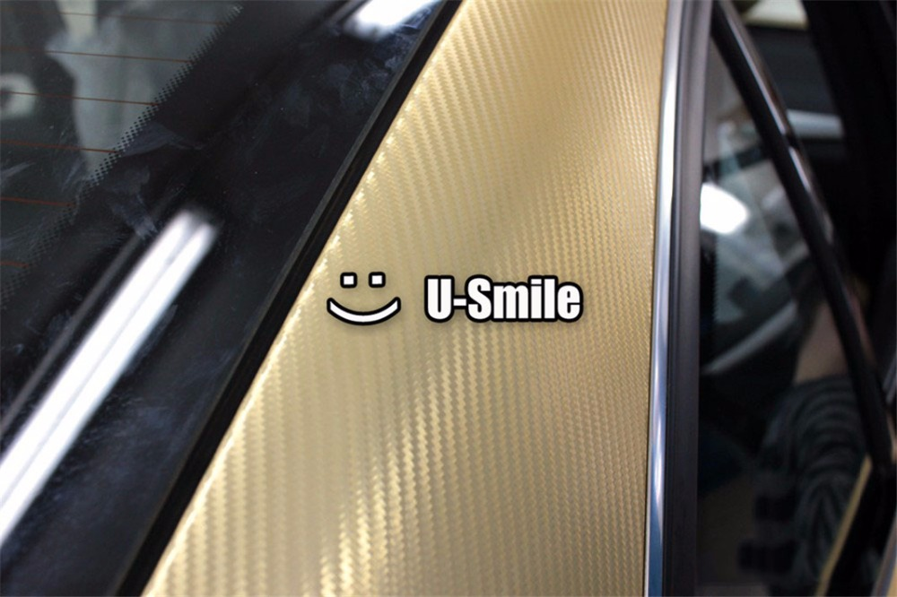 D Gold Carbon Fiber Vinyl Car DIY Wrap Sheet Roll Film Sticker - Car decals designcheap carbon vinyl sticker buy quality carbon time directly from