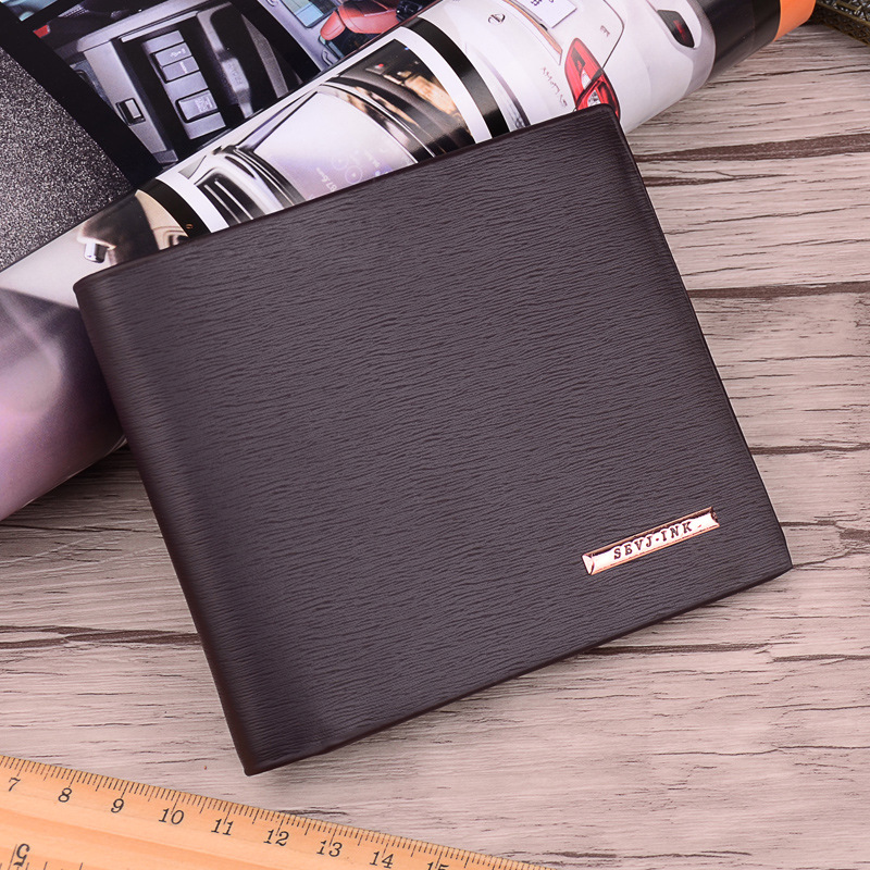 Classic Man Short Business Leather Wallet Famous Brand Male Card Holder Male Carteras Purses Wallets for Men hot sale leather men s wallets famous brand casual short purses male small wallets cash card holder high quality money bags 2017