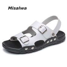 7a998749d17fd Misalwa Summer Men Sandals Big Size 38-47 Men Casual Sandals Yellow White  Black Blue Daily Sandals 2018