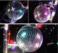 15 cm bola de Natal espelho bola de vidro reflexivo fase de reflexão espelho luz do estágio bola