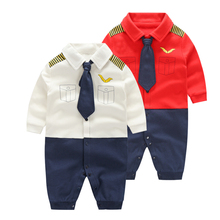 YiErYing 2Pc Baby Clothes Sets 2018 Fashion Cotton Long Sleeve Bow Tie Gentleman Party Clothing For Baby Boy Romper стоимость