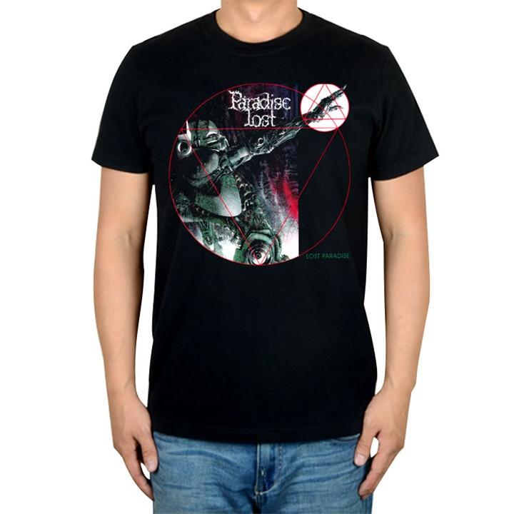 14 видов иллюстрации Райский Lost Rock брендовая футболка панк готический Металл черные рубашки уличная Harajuku искусство картины camiseta - Цвет: 5