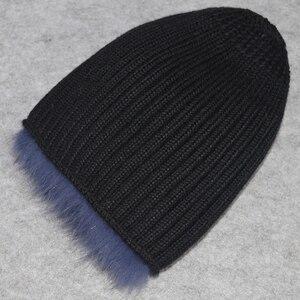 Image 4 - 女性の冬の自然本物のキツネの毛皮の帽子弾性暖かいソフトふわふわ本物のキツネの毛皮キャップ豪華な品質本物のキツネの毛皮爆撃機帽子