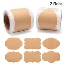 Пустые наклейки 2*12 дюйма 300 шт в рулоне для скрапбукинга