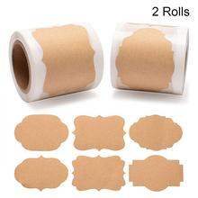 2*1.2inch Blank Stickers 300pcs per roll labels stickers scrapbooking for Package and wedding decoration DIY stationery sticker