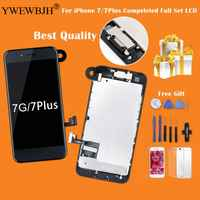 YWEWBJH Full Assembly LCD or Complete Display For iPhone 7 7 Plus with 3D touch Screen and Front Camera+Earpiece Speaker