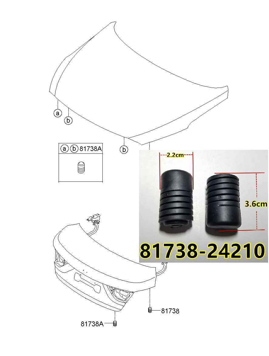 for hyundai kia car all models bumpers shock cushion engine cover  suitcase cover plate lower impact