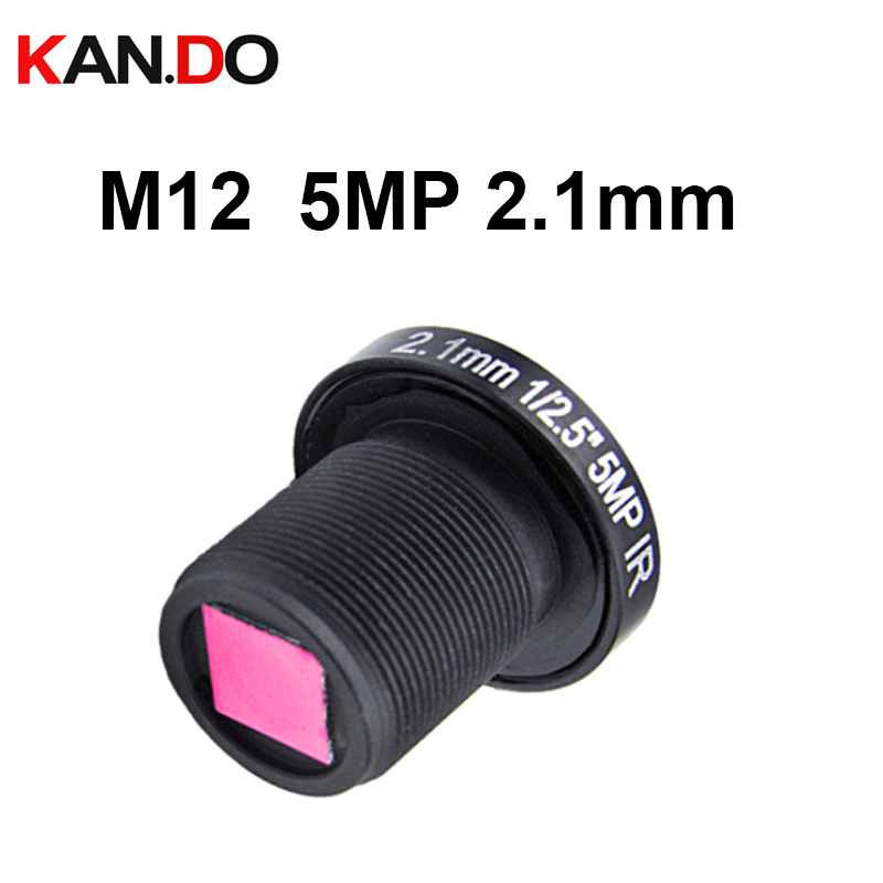 5.0 Megapixel 2.1mm Fisheye Action Camera Lens W/t IR Filter F2.0 M12 Mount Wider Viewing Angle 155Degre