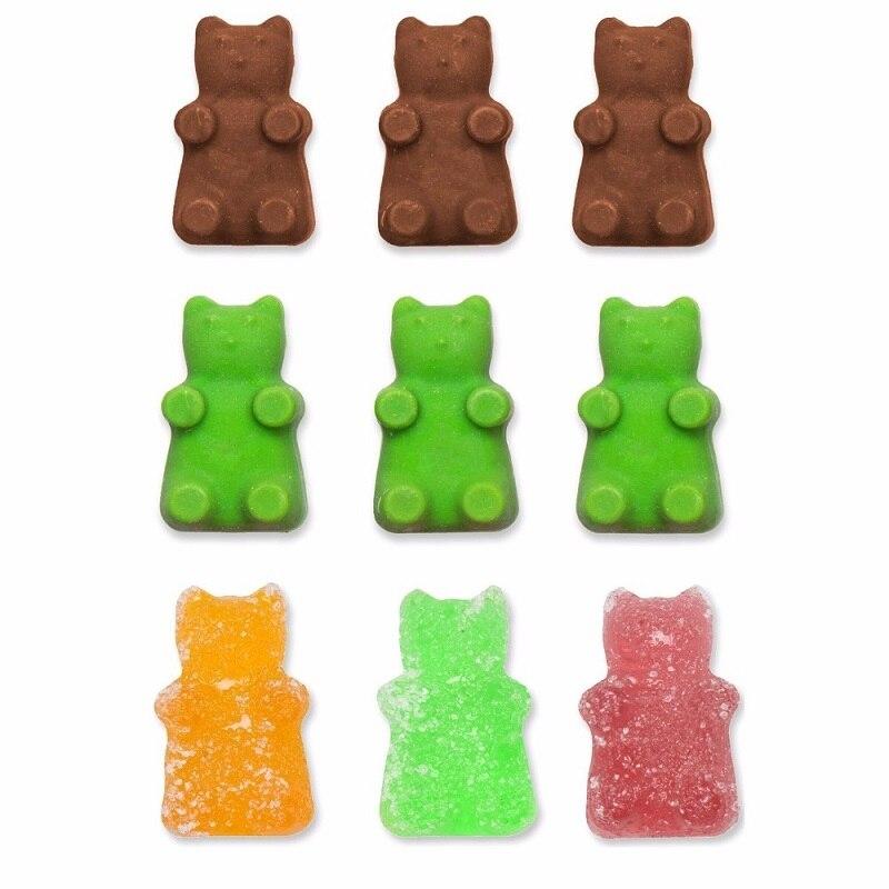 2017 Fashion 50 Cavity Silicone Gummy Bear Chokolade Mørde Candy - Køkken, spisestue og bar - Foto 2