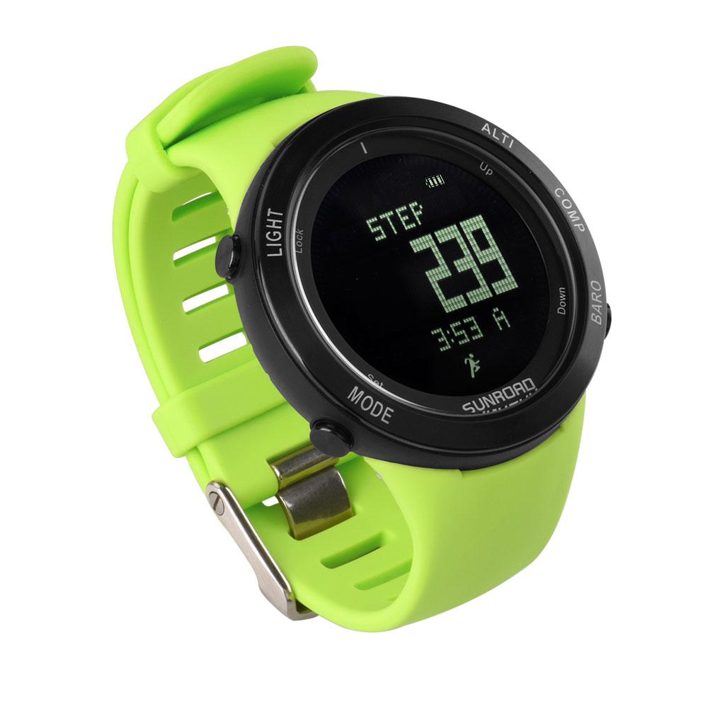 SUNROAD hommes et femmes étanche baromètre de fréquence cardiaque altimètre boussole montre-bracelet homme numérique militaire pedeomètre montres Relogio