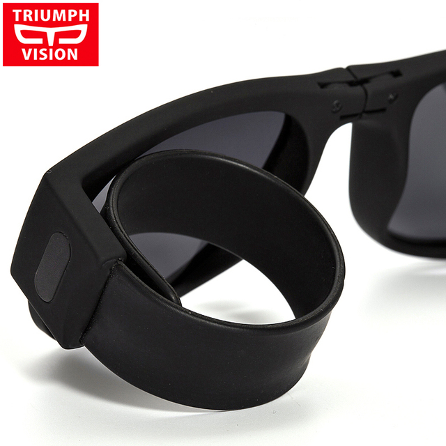 FOLDABLE Wrist-wearable Polarized Outdoor Sports Action Sunglasses Men Women Eyewear Slapsee