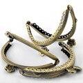 10 Pcs de alta qualidade moedas bolsa de embreagem arco quadro beijo fecho bolsa alça de Bronze Tone 8.5 x 6 cm