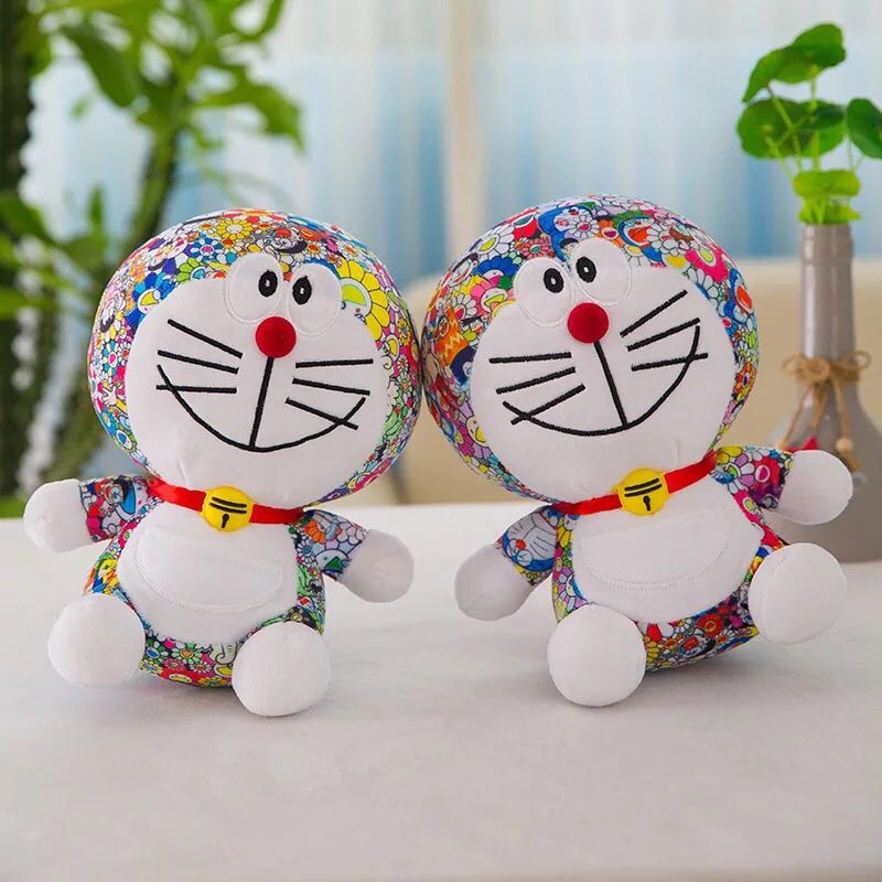 MIAOOWA 1PC 25/35/45CM Cute Cartoon Anime Doraemon Plush Toys Cute Cat doll Soft Stuffed Lovely Animals Baby Toy For Kids Gifts
