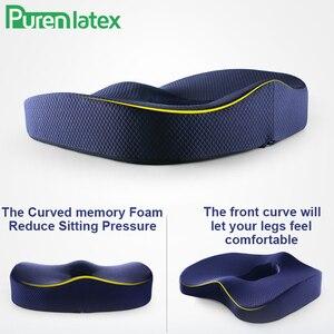 Image 3 - Ортопедическая подушка из пены с эффектом памяти, комплект из 2 предметов, подушка для офисного кресла, коврики для автомобильных сидений, подушка для защиты позвоночника от геморроя