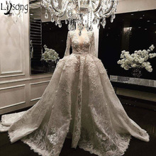 Lisong Long Sleeve Wedding Dress Bride Dress Ball Gown