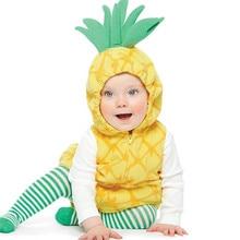 3 шт./компл. Детские ананасов и клубники; милый детский костюм с героями мультфильмов для малышей, Косплэй ползунки+ Носки+ жилет детское нарядное сказочное причудливые реквизиты