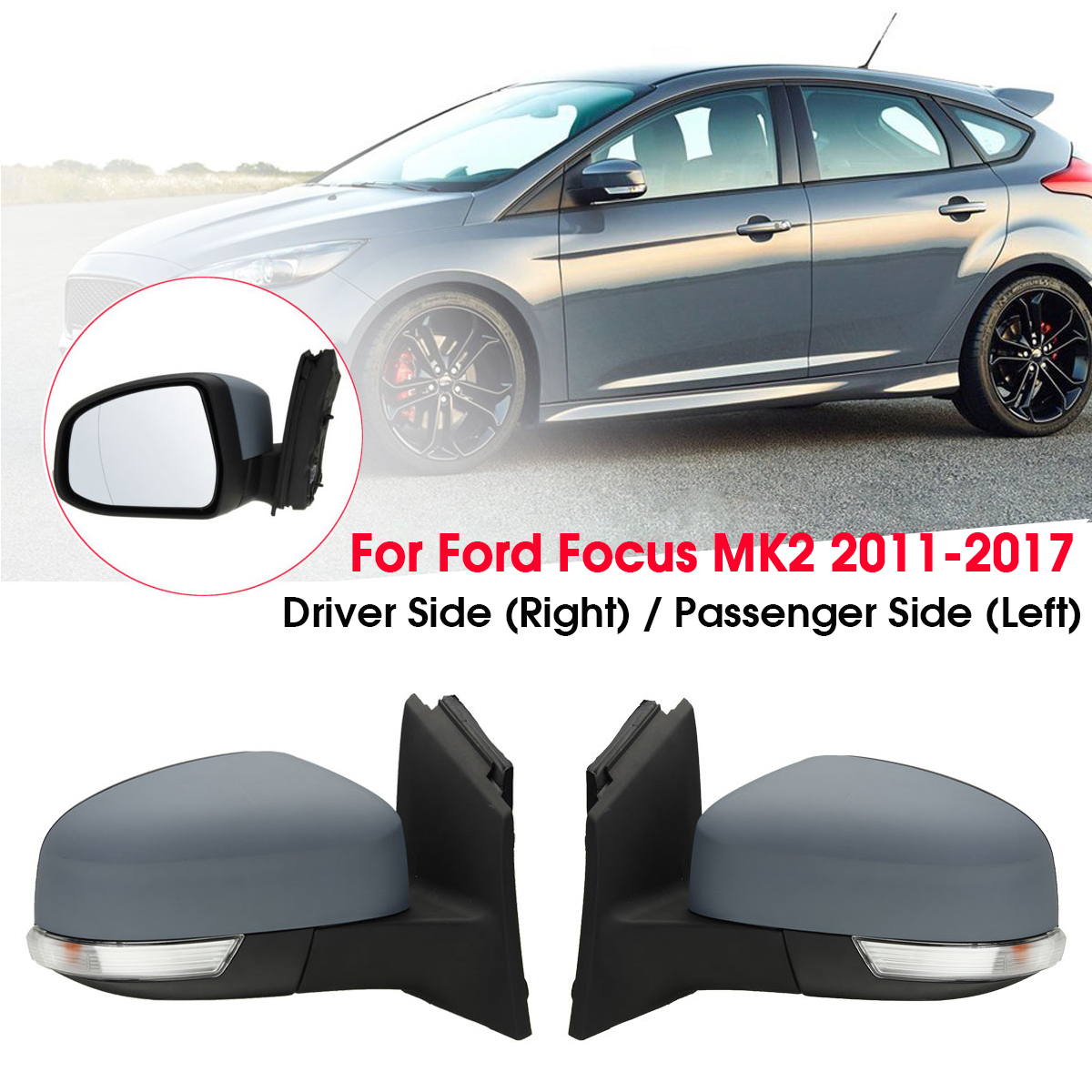Car Door Electric Wing Mirror Driver /Passenger Side For Ford for Focus MK2 2008 2009 2010 2011-in Mirror & Covers from Automobiles & Motorcycles    1