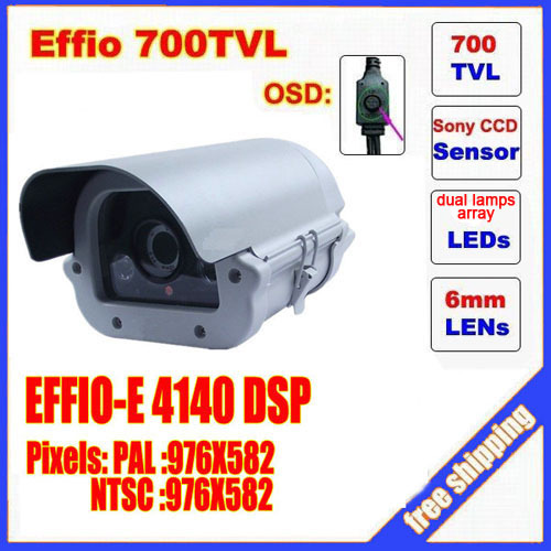 2014 special offer promotion video camera ccd sony effio dual lamps array led infrared camera osd menu  waterproof ir 50m c60h free shipping infrared video camera ccd sony effio e 700 tvl high definition surveillance camera six lamps array waterproof