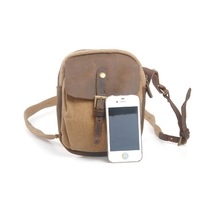 Washing Canvas mini Wallet Purse leather portable shoulder casual bag pacthwork woman retro shopping phone money car  package