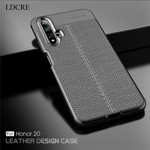 For Huawei Honor 20 Case Luxury Fundas PU Leather Business Silicone Cover
