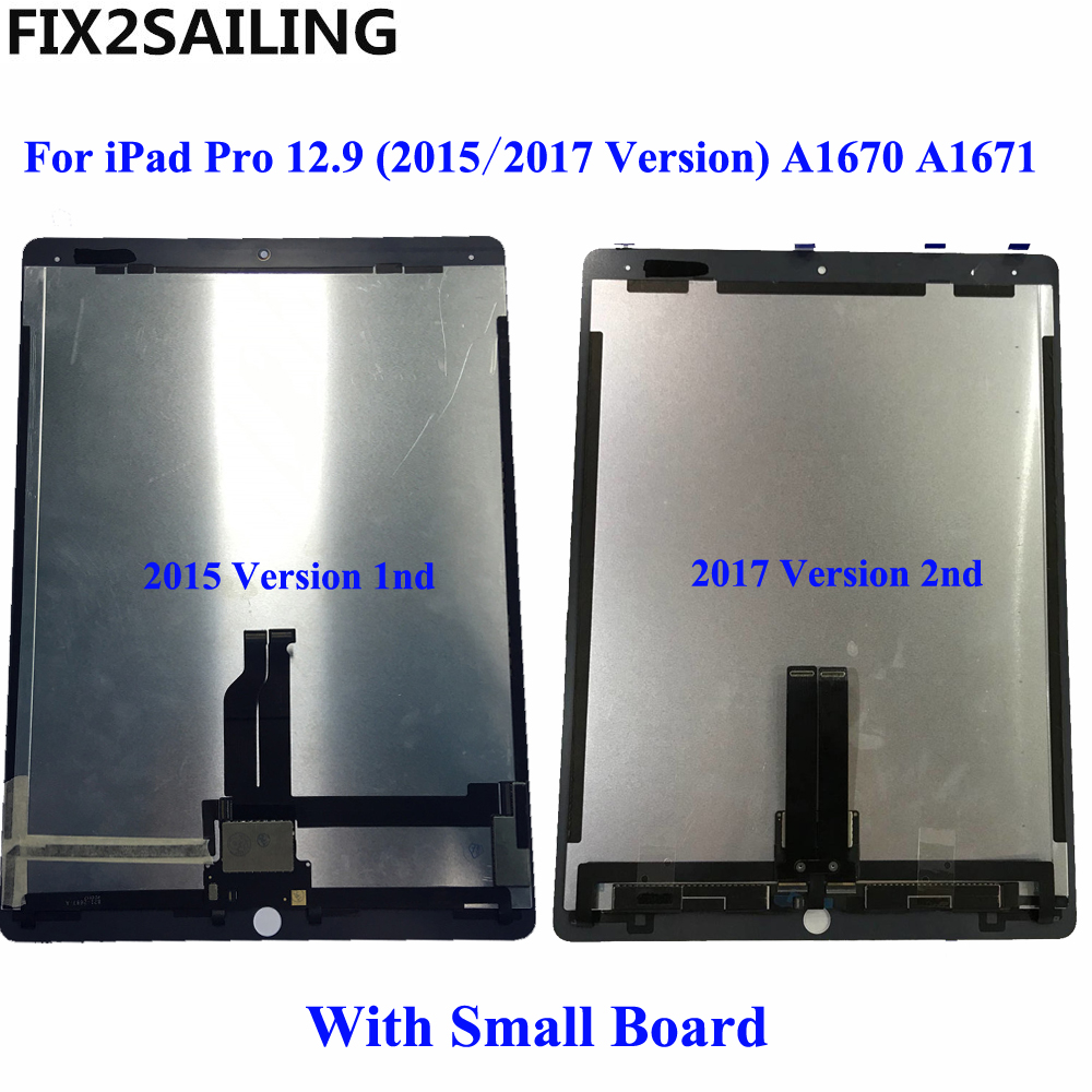 For iPad Pro 12.9 (2015/2017 Version) A1670 A1671 2nd LCD Display Touch Screen Digitizer Panel Assembly With Board 1pcs tested for apple ipad pro 12 9 2017 version a1670 a1671 lcd display assembly touch screen digitizer panel replacement
