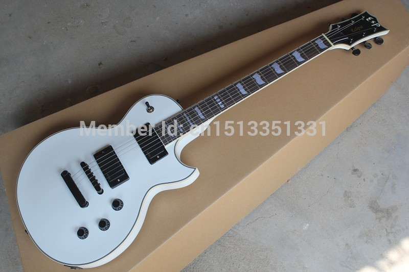 Free shipping EMG Active Pickup 9V Battery for ESP Custom shop Eclipse white Electric Guitar in stock 140401