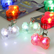Bone-shaped luminous dog led tag