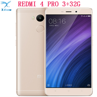 Free Shipping Original Xiaomi Redmi 4 PRO 4100mAh Battery Fingerprint ID Snapdragon 625 Octa Core 5