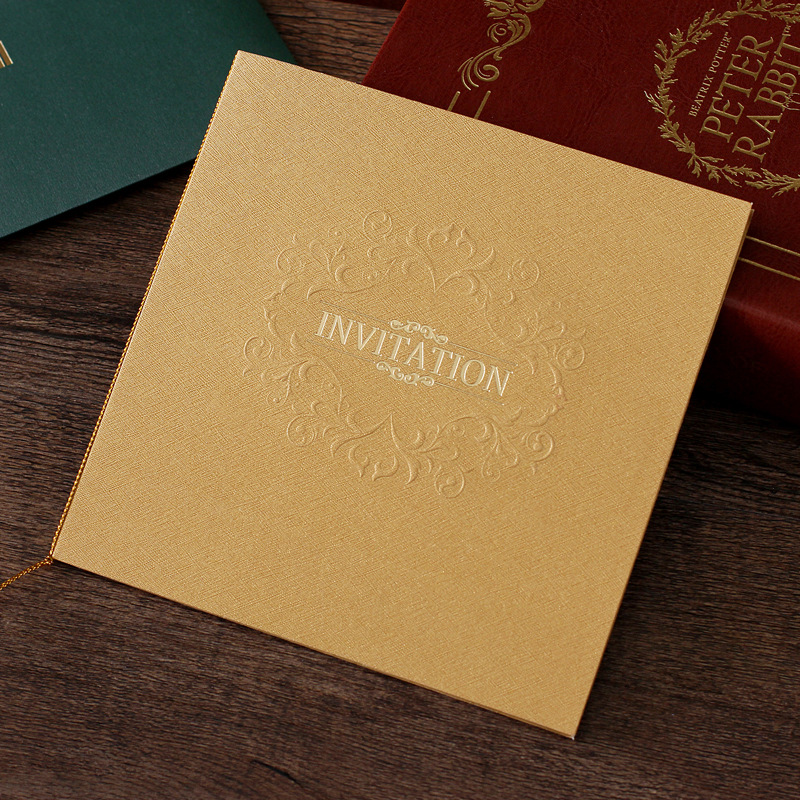 Wedding Invitations Business: Wedding Invitations Stereoscopic Embossed Bronzing