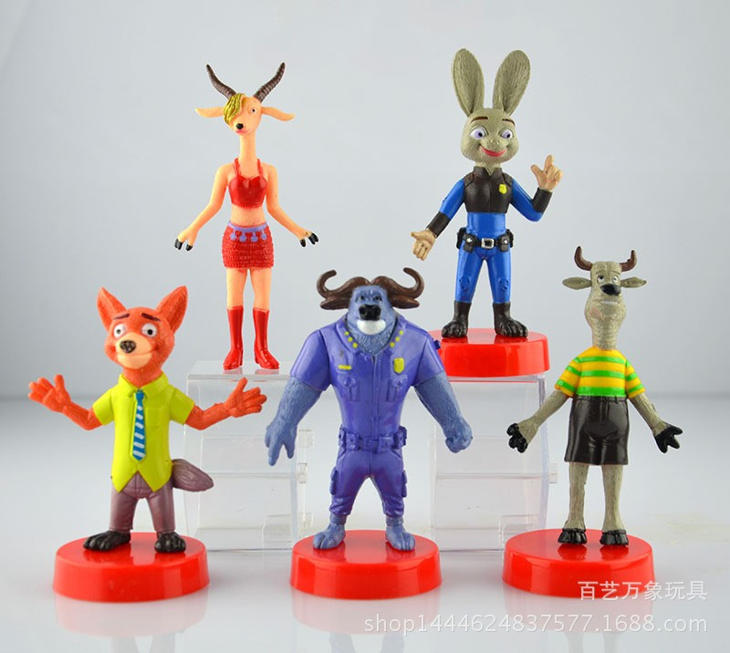 2016 Amazing 5pcs/set Zootopia Animals Action Figure Toys Rabbit Judy Hopps Fox Nick Wilde Movie Kids Gift Collection Figures