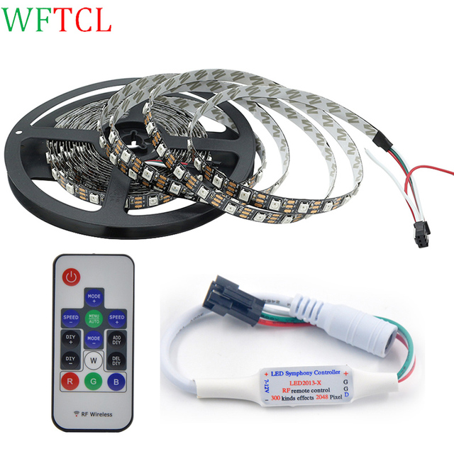 2812b programmable 5050 rgb led strip light with rf pixle controller 2812b programmable 5050 rgb led strip light with rf pixle controller 300 pixels addressable dream color aloadofball