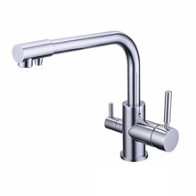 Горячей/холодной Водопроводной Воды 3 Способ Кран Torneira Cozinha Grifos Cocina Двойной Держатель на Одно Отверстие Ни Kitchen2015 Ro Фильтрации воды,