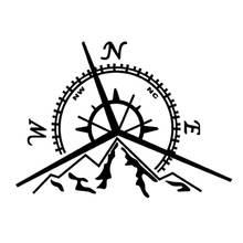 137x94 см nswe горы компас наклейка Роза Морской Компас Навигация