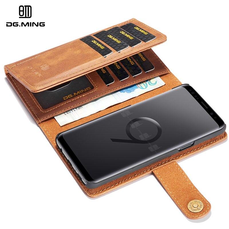Для samsung Galaxy S9 случае DG. ming Роскошные Multi-карты кожаный чехол для samsung S9 5,8 Магнитный Съемная Флип Бумажник случаях