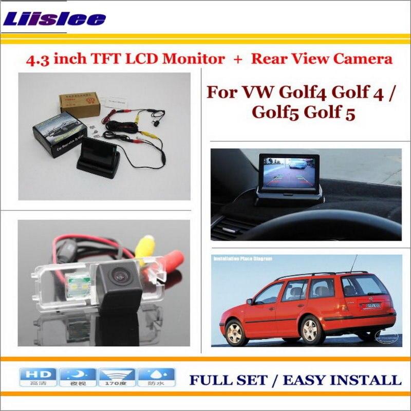 Liislee pour Volkswagen VW Golf4 Golf 4/Golf5 Golf 5 voiture caméra arrière + 4.3