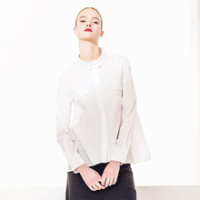 Europe Station Tide Brand In Europe And America Loose Blouse Shirt Long-sleeved Single-breasted Models Irregular Spot