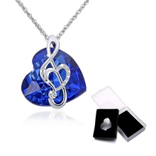 Musically Note Heart Pendant